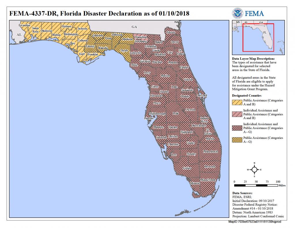 Florida Hurricane Irma (Dr-4337)   Fema.gov - Florida Flood Risk Map