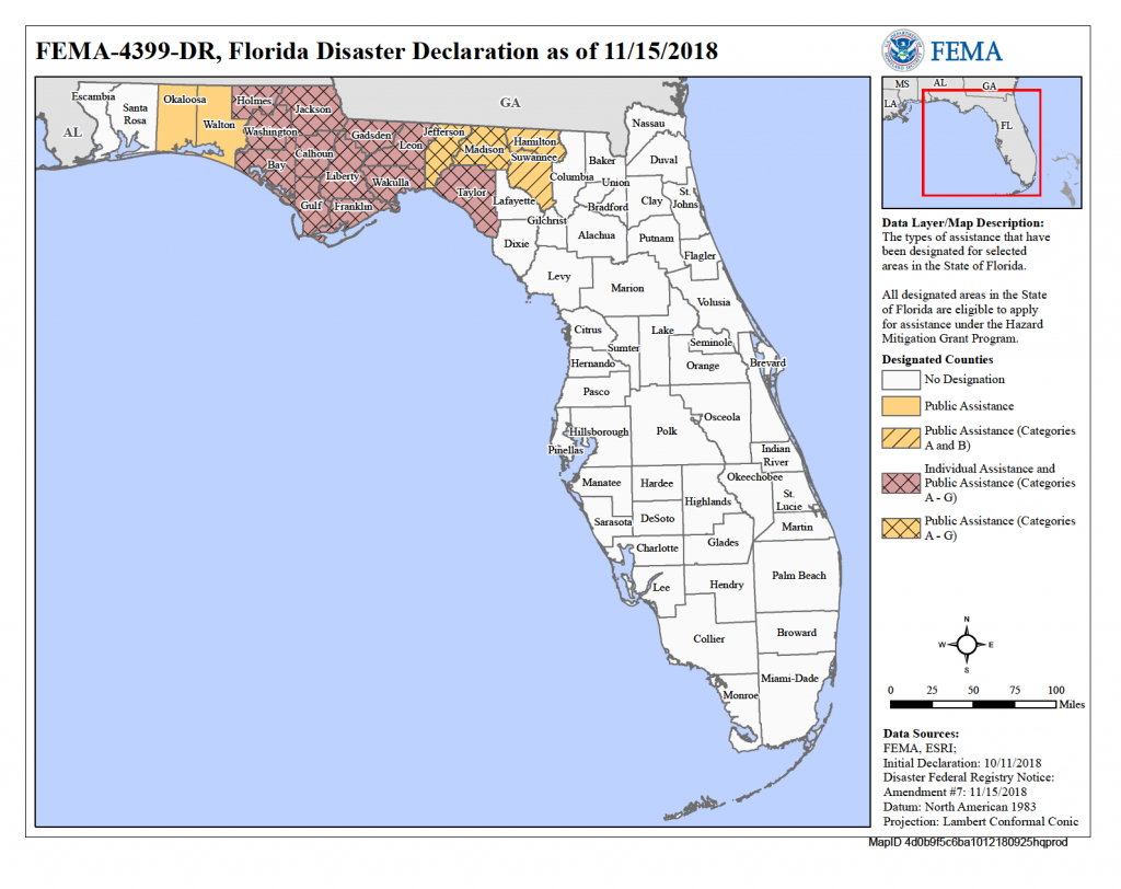 Florida Hurricane Michael (Dr-4399) | Fema.gov - Florida Hurricane Damage Map