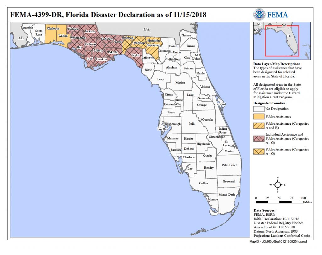 Florida Hurricane Michael (Dr-4399) | Fema.gov - I Want A Map Of Florida