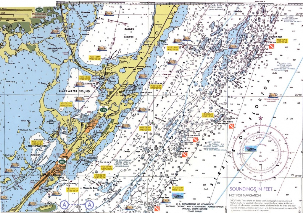 Florida Keys Dive Charts - Florida Keys Nautical Map