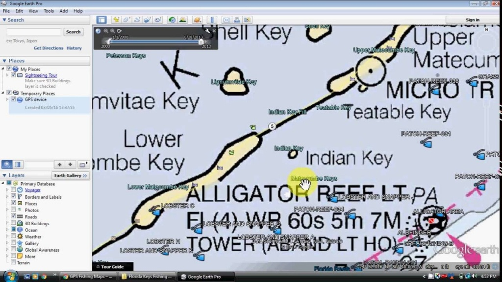 Florida Keys Fishing Map And Fishing Spots - Youtube - Florida Keys Spearfishing Map