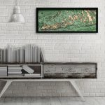 "Florida Keys, Florida 3D Nautical Wood Map, 13.5"" X 31""   Florida Keys Map Poster"