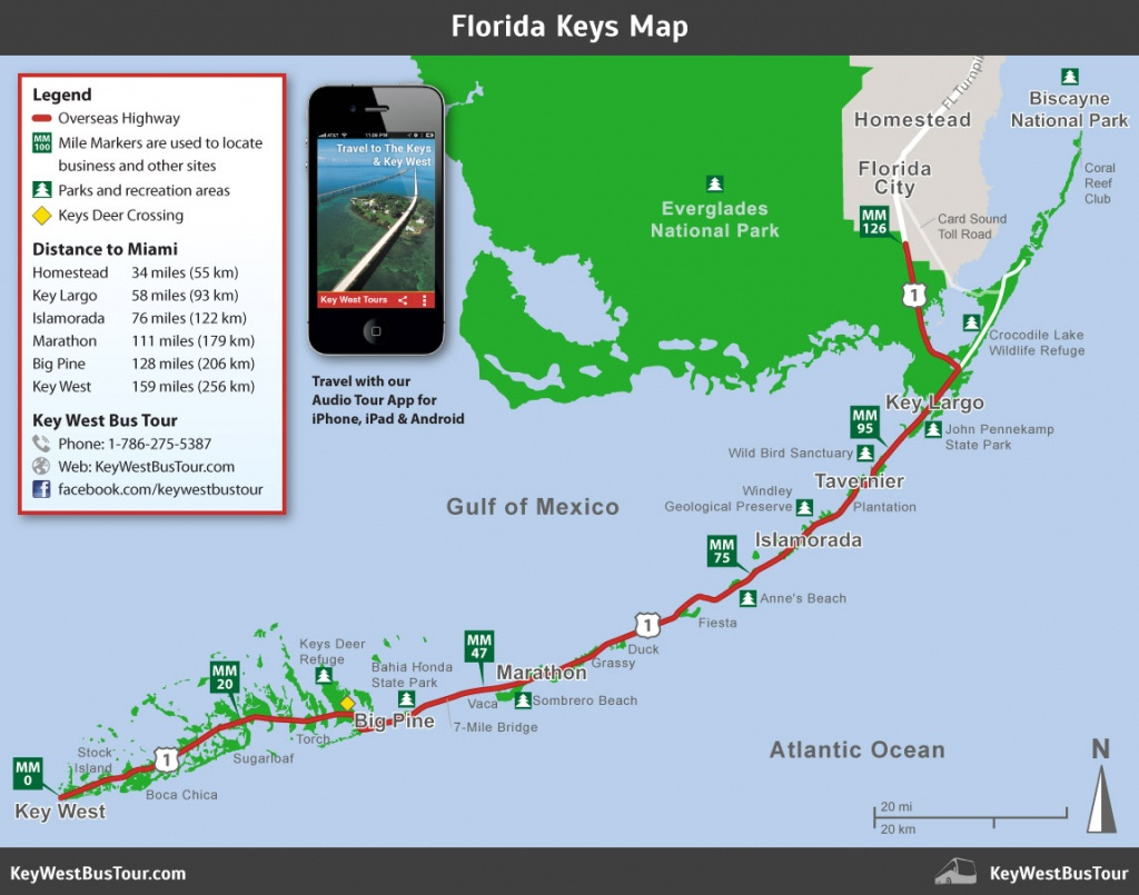 Florida Keys Map :: Key West Bus Tour - Florida Keys Highway Map
