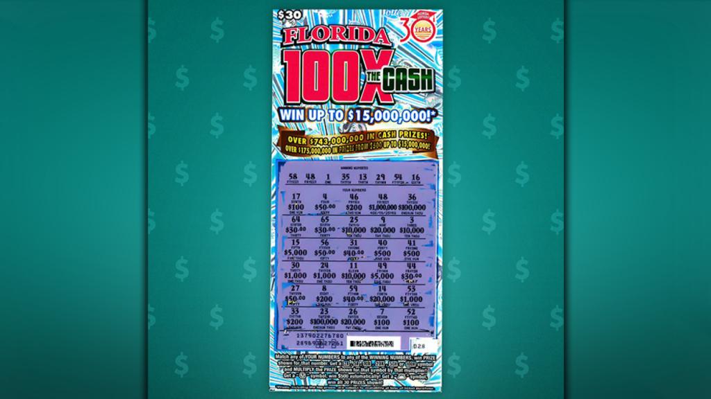 Florida Man Wins $15 Million Jackpot On Scratch-Off Ticket - Florida Scratch Off Map