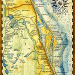 Florida Map Art Print C. 1893 | Etsy   Florida Map Art