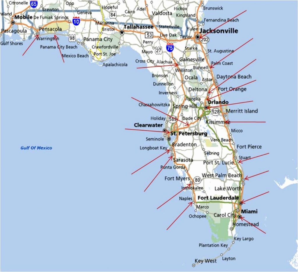 Florida Map Beaches Awesome Fishing Hot Spots New Beach River To - Navarre Beach Florida Map