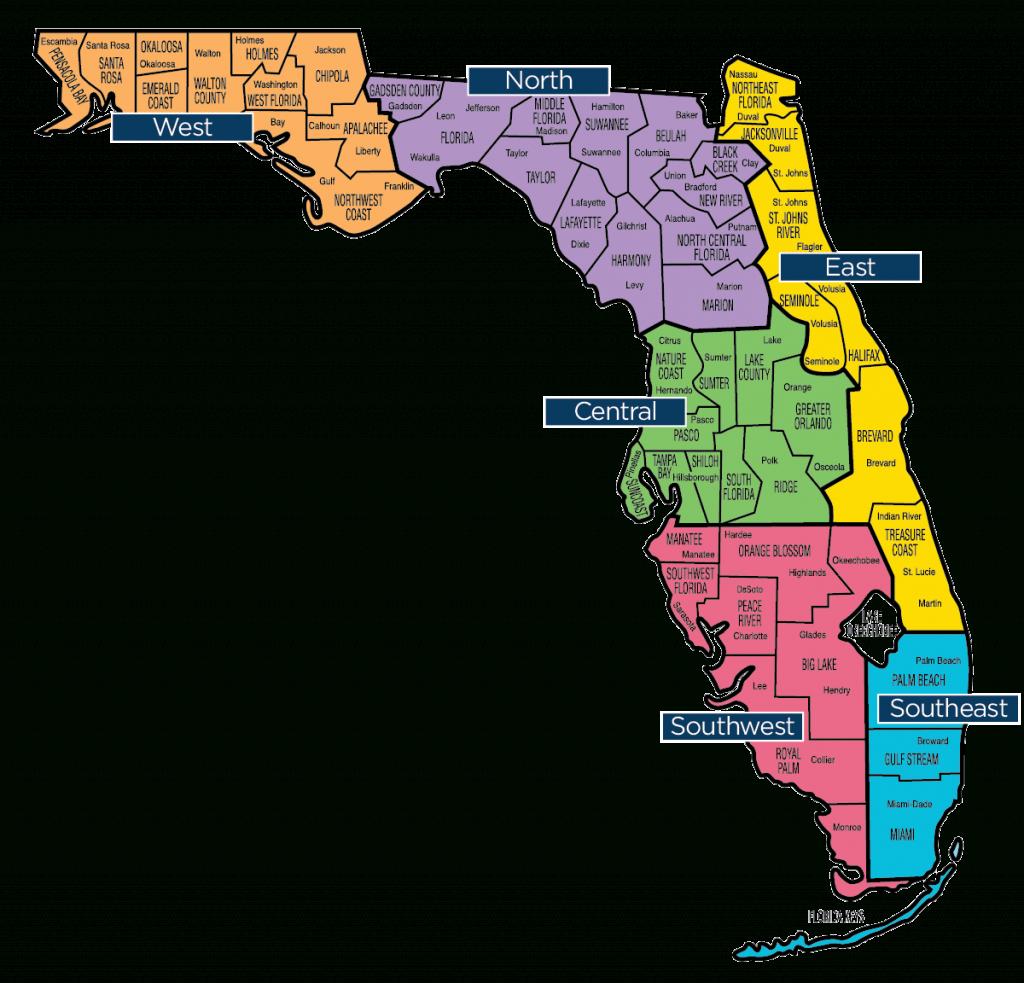 Florida Map - Florida Baptist Convention | Fbc - Big Map Of Florida