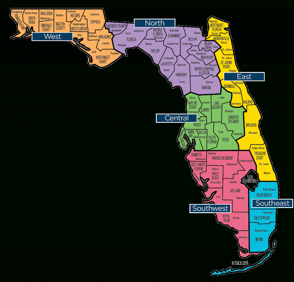 Florida Map - Florida Baptist Convention | Fbc - Map Of Lake City Florida And Surrounding Area