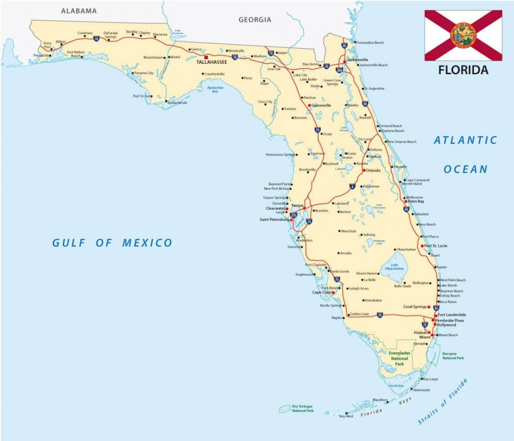 Florida Map - Google Map Of Florida Cities