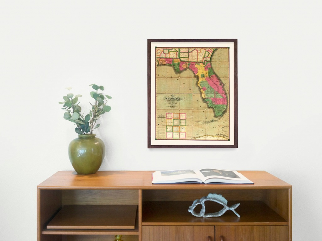 Florida Map - Map Art - Map Decor - State Map - Florida Art - Florida Map Wall Decor