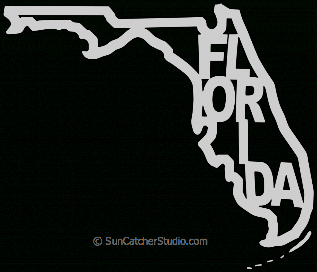Florida - Map Outline, Printable State, Shape, Stencil, Pattern - Florida Map Outline Printable