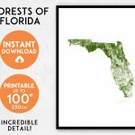 Florida Map Print Printable Florida Map Art Florida Print | Etsy   Florida Map Art
