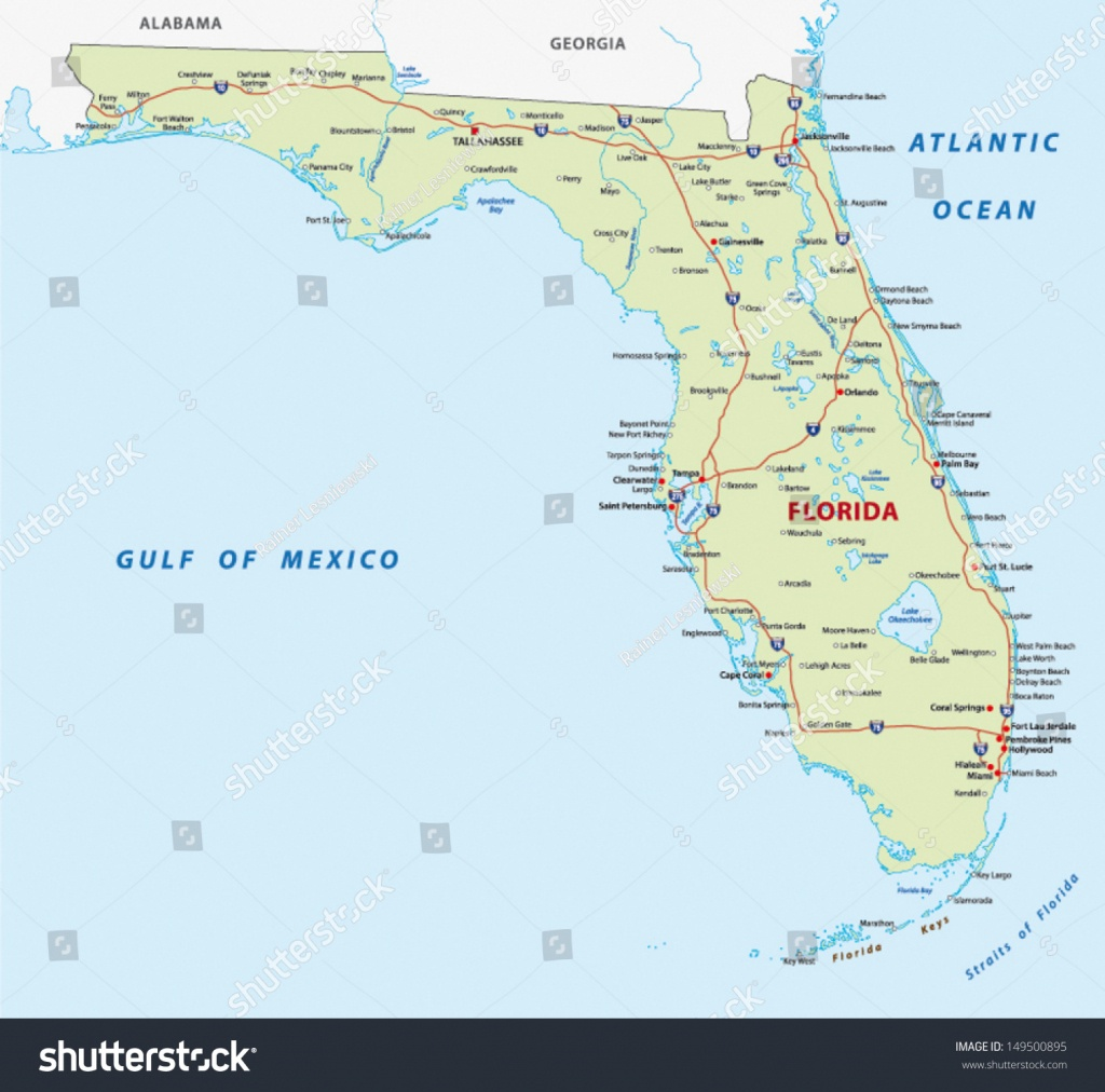 Florida Map Stock Vector (Royalty Free) 149500895 - Belle Glade Florida Map