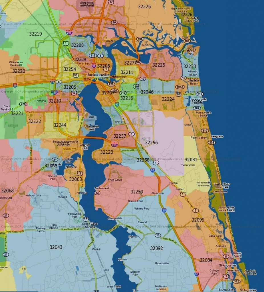 Florida Mapszip Code And Travel Information | Download Free - Ponte Vedra Florida Map