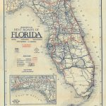 Florida Memory – Clason's Guide Map Of Florida, C. 1927 – Seabreeze Florida Map