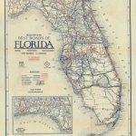 Florida Memory – Clason's Guide Map Of Florida, C. 1927 – Seabreeze Florida Map
