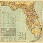 "Florida Memory On Twitter: ""a Map Of The Sunshine State Prepared For   State Of Florida Map Mileage"