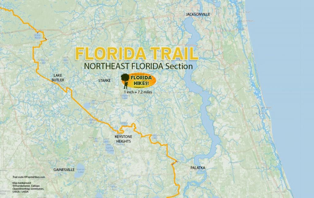 Florida Outdoor Recreation Maps | Florida Hikes! - Florida Hikes Map