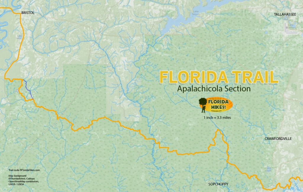 Florida Outdoor Recreation Maps | Florida Hikes! - Florida Section Map