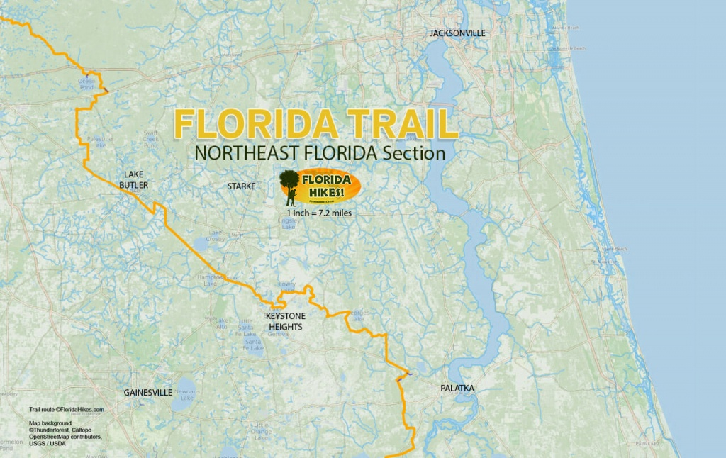 Florida Outdoor Recreation Maps | Florida Hikes! - Map Of Florida With Port St Lucie