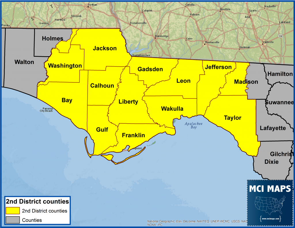 Florida Panhandle Cities Map - Lgq - Florida Panhandle Map With Cities