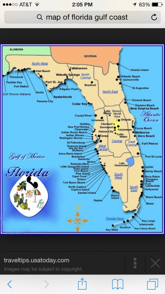 Florida Panhandle Map - Florida Gulf Coast Towns Map ...