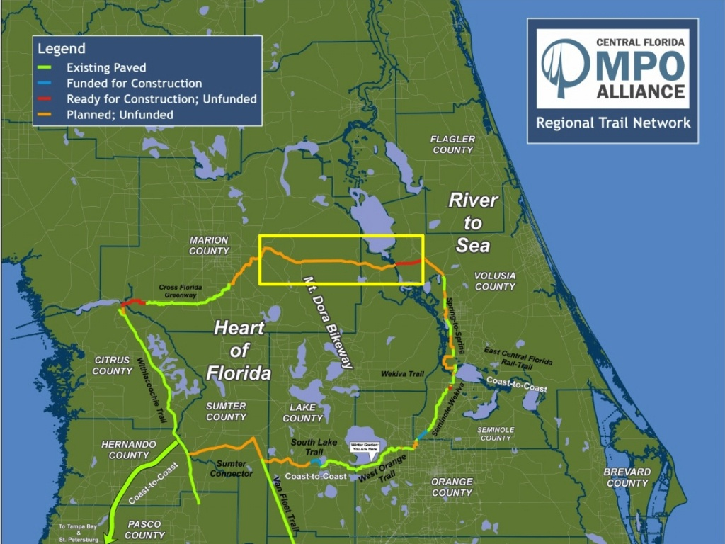 Florida Rails To Trails Map - Rails To Trails Florida Map