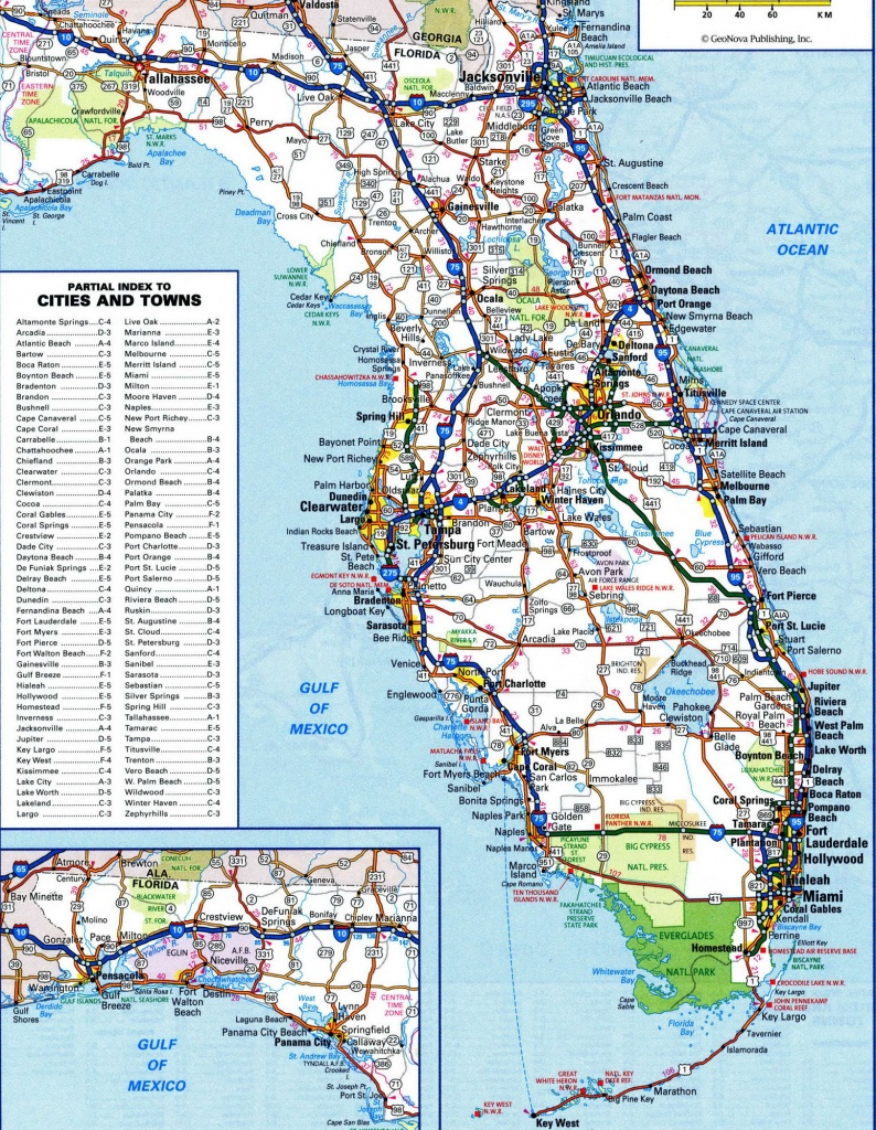 Florida Road Map Atlas | Listed Map - Florida Road Map 2018
