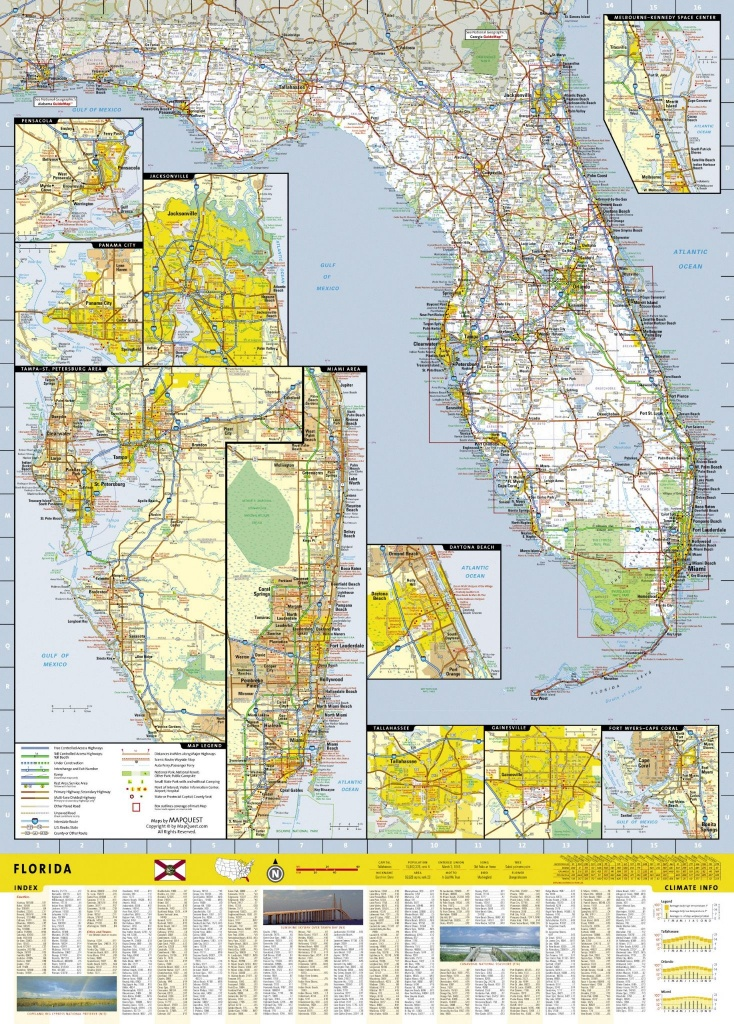 Florida Road Map & Travel Guide Gm16 - Florida Travel Guide Map
