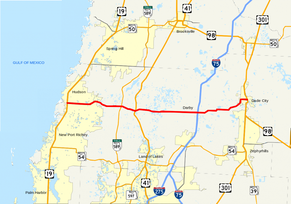 Florida State Road 52 - Wikipedia - Map Of Florida Showing Dade City