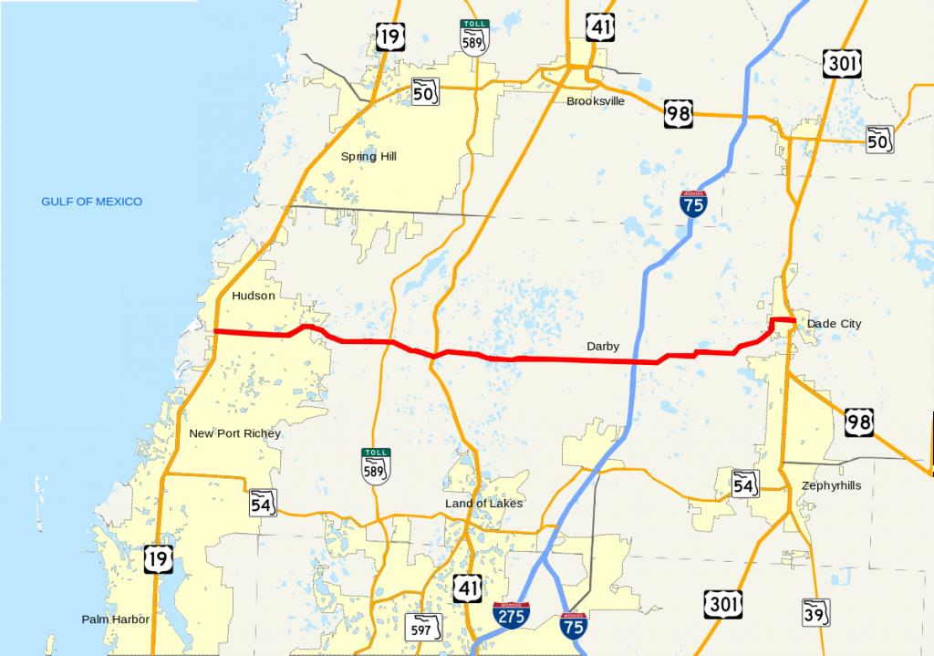 Florida State Road 52 - Wikipedia - Road Map Of Lake County Florida