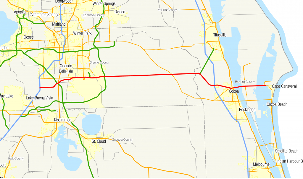 Florida State Road 528 - Wikipedia - Port Canaveral Florida Map