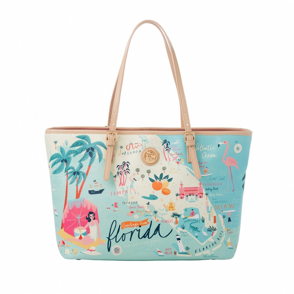 Florida Tote - Oh So Wittyspartina 449 $98.00 | Miscellaneous - Florida Map Purse
