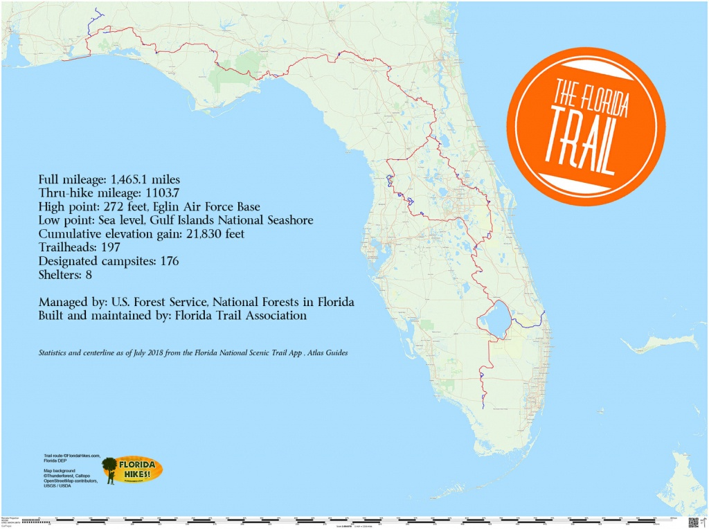 Florida Trail | Florida Hikes! - State Of Florida Map Mileage