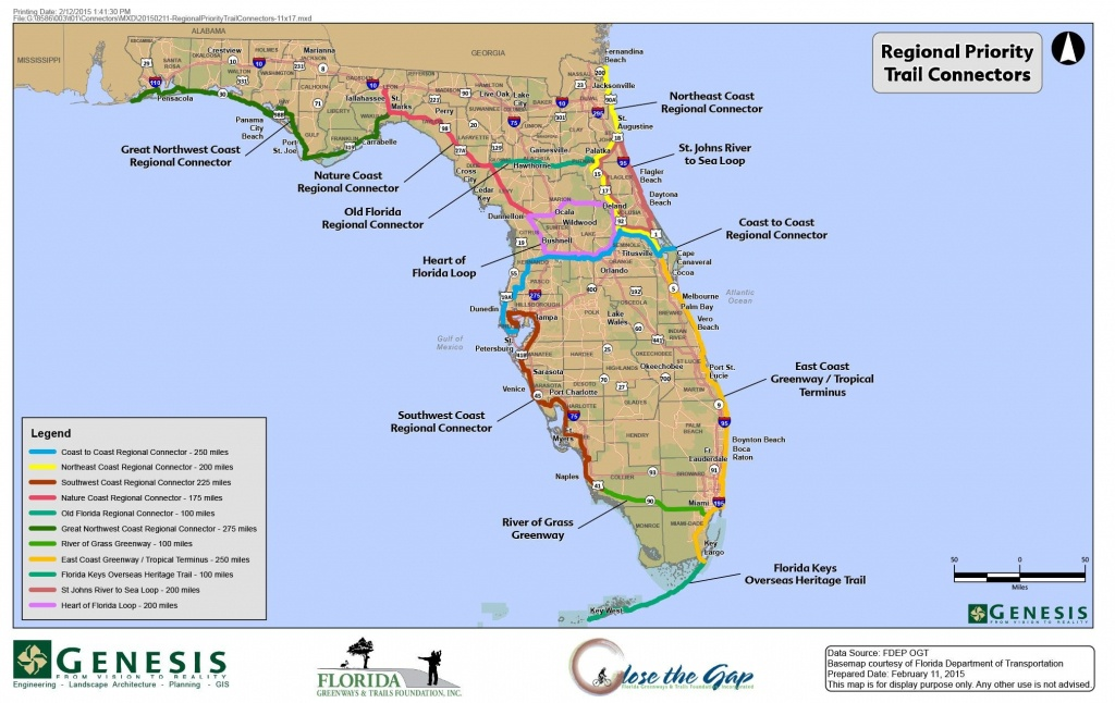 Florida Trail Map | D1Softball - Central Florida Bike Trails Map