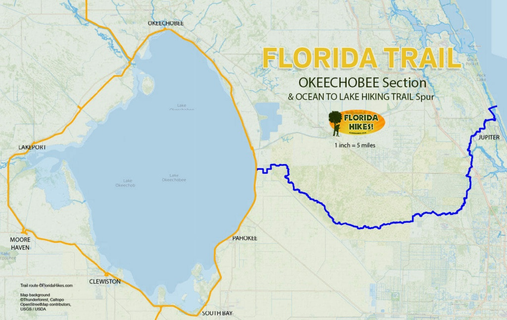 Florida Trail, Okeechobee Section | Florida Hikes! - Lake Okeechobee Florida Map