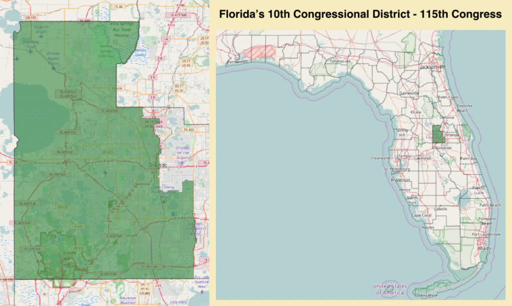 Florida's 10Th Congressional District - Wikipedia - Florida District 6 Map