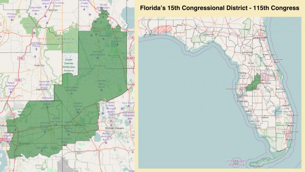 Florida's 15Th Congressional District - Wikipedia - Florida Congressional Districts Map 2018