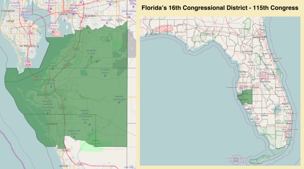 Florida's 16Th Congressional District - Wikipedia - Florida 6Th District Map