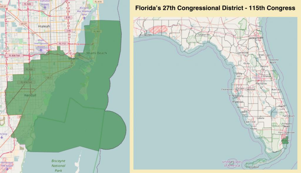 Florida's 27Th Congressional District - Wikipedia - Florida Congressional Districts Map 2018