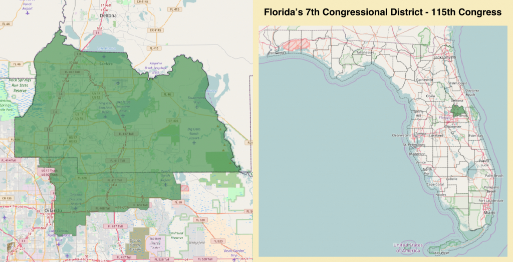 Florida's 7Th Congressional District - Wikipedia - Florida House District 15 Map