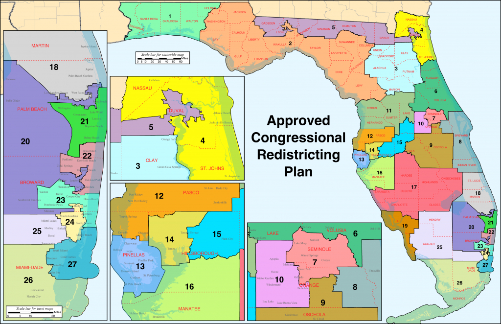 Florida's Congressional Districts - Wikipedia - Florida Congressional Districts Map 2018