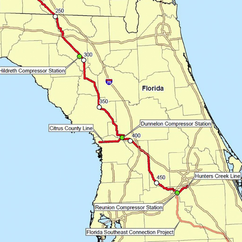 Florida's Congressional Establishment Dips Toes Into Grassroots Anti - Florida Gas Pipeline Map
