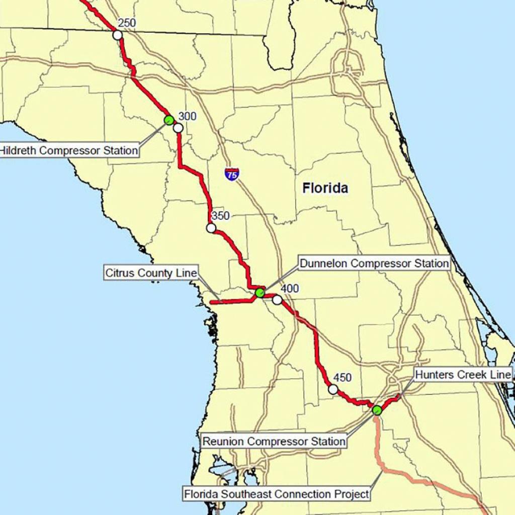 Florida's Congressional Establishment Dips Toes Into Grassroots Anti - Florida Gas Pipeline Map