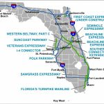 Florida's Turnpike   The Less Stressway   State Of Florida Map Mileage