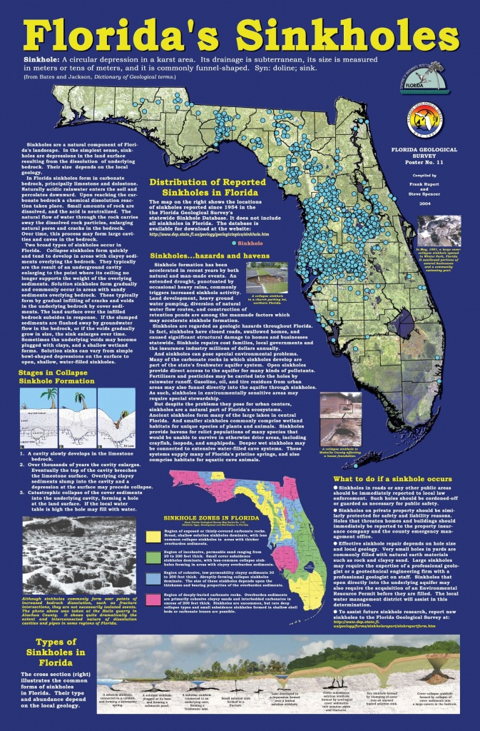 Florida+Sinkhole+Map | Florida Sinkhole Map | Florida | Ocala - Florida Geological Survey Sinkhole Map