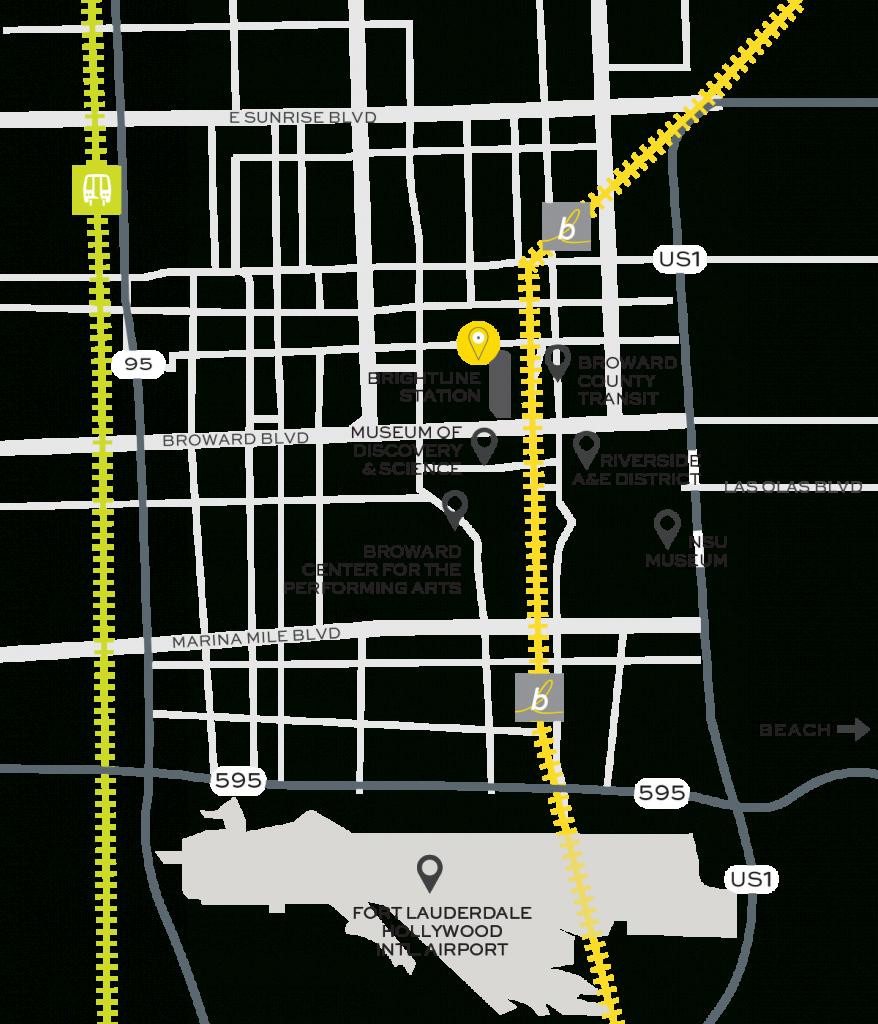 Floridatraveler Rr Station Map In _Ft-Lauderdale | Floridatraveler - Florida Brightline Map