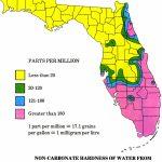 Floripedia: Water Hardness   Florida Water Hardness Map