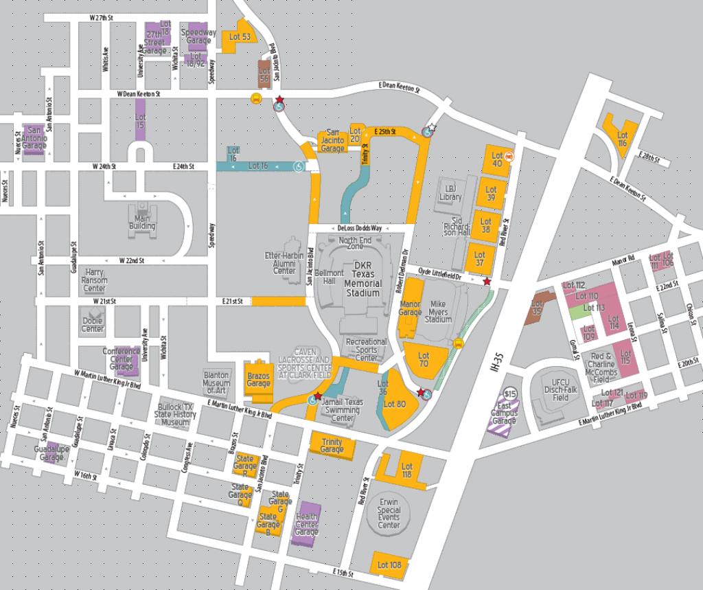 Football Parking 2018 | Parking & Transportation | The University Of - University Of Texas Football Parking Map 2016