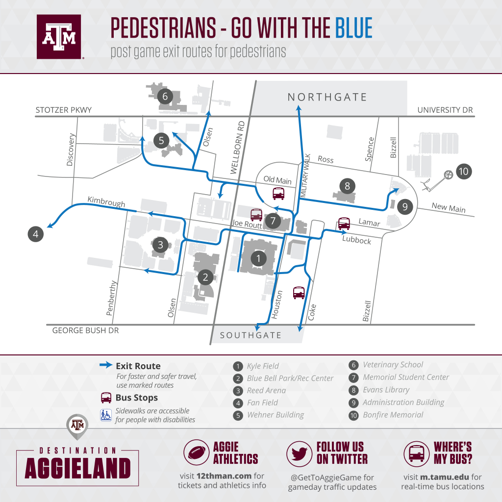 Football Parking & Information - Texas A&m Parking Map